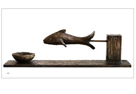 Brons met vis